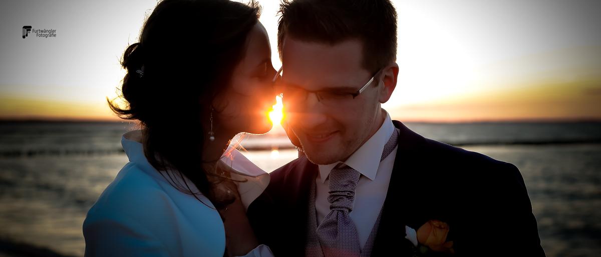 Hochzeit Sonnenuntergang